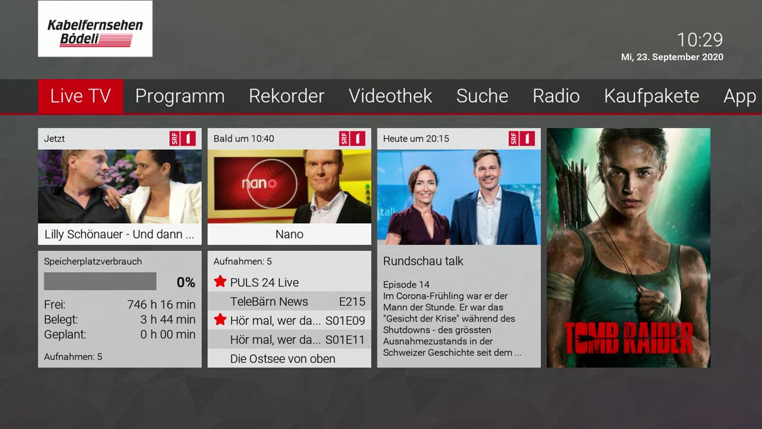 Kabelfernsehen Bödeli GUI