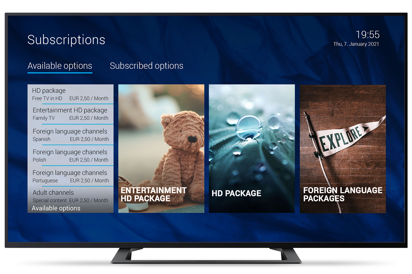 Ocilion Subscriptions TV